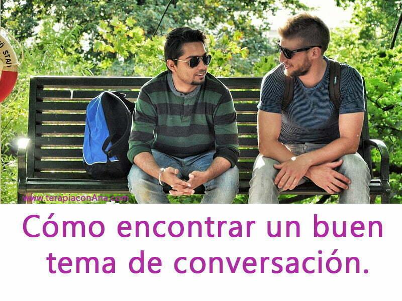cómo encontrar un buen tema de conversación