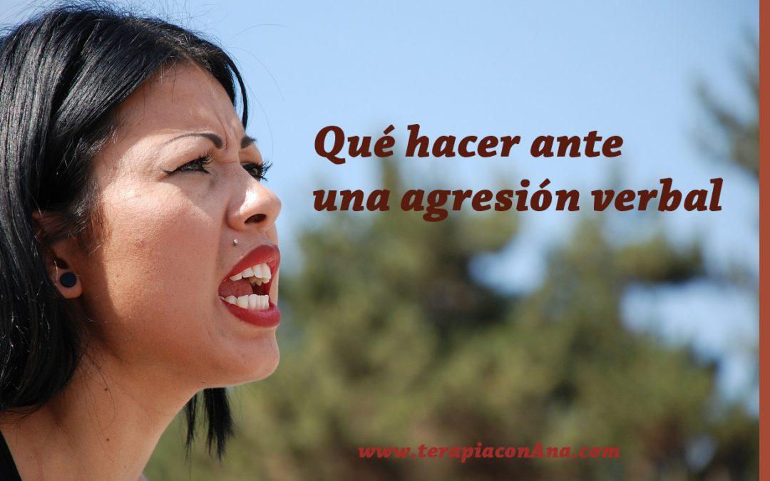Qué hacer ante una agresión verbal