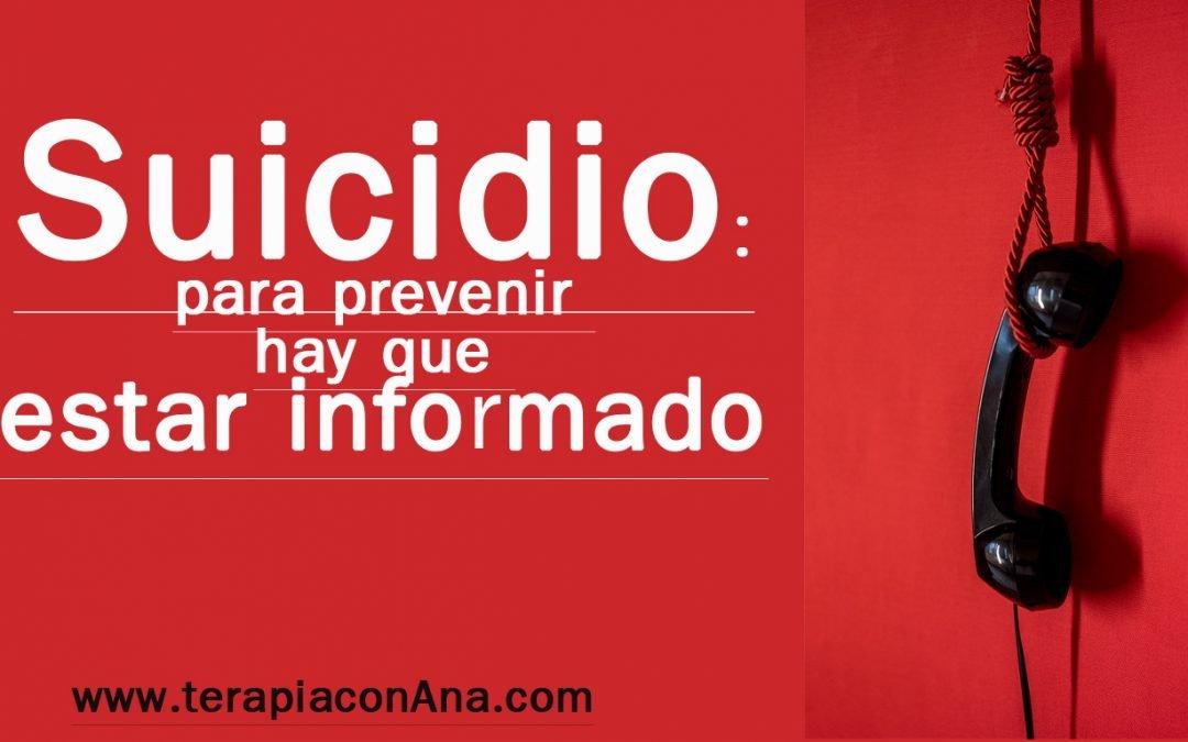 suicidio para prevenir hay que estar informado